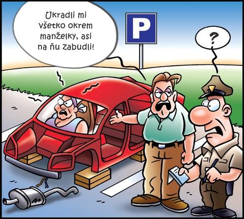 Vykradnuté auto